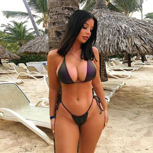 2019 Hot New summer women sexy deep V-ray Bikini riflettente Suit Design famoso di alta qualità Spedizione gratuita
