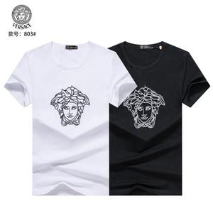 20SS Monogram Письмо Геометрическая Printed Мода T-Shirt Лето дышащий Tee Повседневный Простые Мужчины Женщины Улица с коротким рукавом TX85