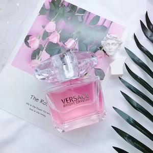 Perfume 90ml durável, de alta qualidade envio Senhora elegante Eau de Toilette Livre de Femininos cristal rosa quente