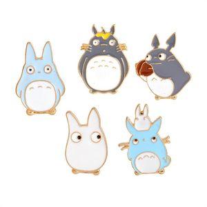 Kadın Çocuklar Hediye DAMLA GEMİ 170894 için Sevimli Anime Totoro Broş iğneler Suit Gömlek Yaka Pin Badge
