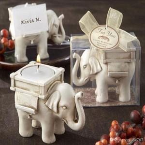 """Свадебные сувениры """"счастливый слон"""" чай свет свечи держатель партии пользу подарок событие партия поставки бесплатная доставка"""