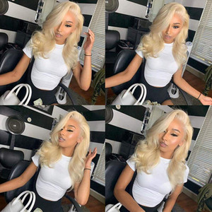 #613 Blonde Lace Front Human Hair Wigs For White Women Body Wave Brazilian Virgin Hair Full Lace Wigs With Baby Hair Natural Hairline