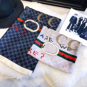 2020fashion 100% Silk Scarf Luxury Designer Womens rainbow grid brands Scarf Elegant Ladies Wrap long scarves 140*140cm