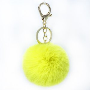Cute hair ball key chain imitation rabbit hair car pendant hair ball hanging ornaments ladies fur key chain bag pendant WCW740