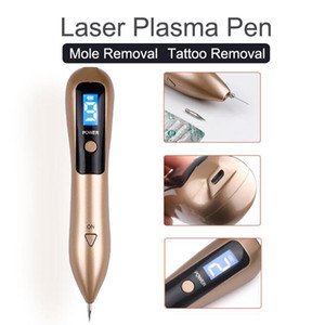 Neueste Laser Plasma Stift Maulwurf Entfernung Dunkler Fleck Entferner LCD Hautpflege Punkt Stift Haut Warze Tag Tattoo Removal Tool Schönheitspflege