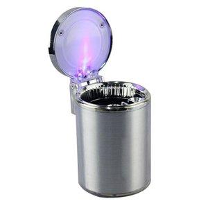 Led Light Carprie auto Posacenere mobile Posacenere in auto per viaggi di sigaretta Ash Cup Holder cestino auto universale