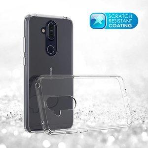 Акриловый прозрачный прозрачный гибридный прочный чехол для Nokia 7 Plus 1 2 3 5 6 8 9 2018 X6 Крышка бампера от царапин