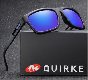 Marca QUIRKE Sunglasses Men polarizada Mulheres Praça Sun Glasses 2019 Masculino Feminino Driving Sunglasses Retro barato Luxo marca Designer A17