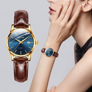 OLEVS Newest Womens Watches Waterproof Wrist Watches for Women Casual Ladies Watch Quartz Leather Band