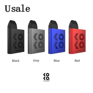 Uwell Caliburn Koko Pod System Kit с 520mAh Встроенный аккумулятор 11W 2мл Top-Fill картриджа 1.2ohm Coil Plug-Вытащите Бобы Design 100% оригинал