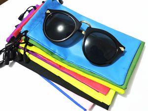 El paño de vidrios bolsa de transporte blanda Conjunto móvil bolsa de tela teléfono a prueba de polvo de las lentes bolsa de almacenamiento Accesorios Gafas