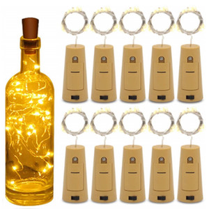 Waterproof LED Copper Wire String Lights For Xmas Party Wedding Decor LED Lamp Cork Shaped Bottle Stopper Light Glass Wine