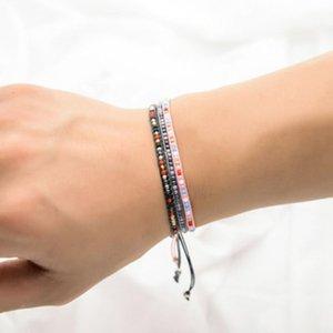 Dames MINI Bracelet   Bohème   Riz Perle Couleur Charme Bracelet Tissé Féminin Amant Bijoux Cadeau 2020
