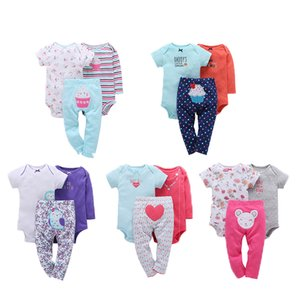 Fashion Baby Girl Clothes Baby Girls Rompers 3pcs Rompers Pants Cartoon Cotton Infant Clothing Set Outfits Jumpsuit