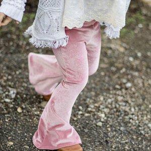 Pantalon Pantalon Ins Girl's Leg Legings pour fille Pleuche Enfants Pantalon Pantalon Unicolore rouge collants Slim Printemps Automne Printemps 1-5ans RRA1937