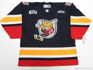 coutume BARRIE COLTS OHL CCM HOCKEY JERSEY point un nombre tout nom Jersey Mens Hockey XS-5XL
