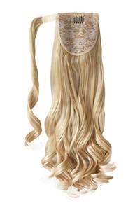 613 rubia cola de caballo peluca remy brasileña del cabello humano cola de caballo del clip en Deep natural de la onda del pelo cola de caballo real 100g-120g