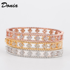 Donia jewelry party European and American fashion flower large classic micro inlaid Zirconia Bracelet women's Bracelet Gift