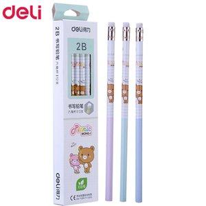 72 шт. Каваи деревянные карандаши 2B HB милый rilakkuma карандаш с ластиками высококачественный карандаш для школьников, пишущих канцелярские подарок