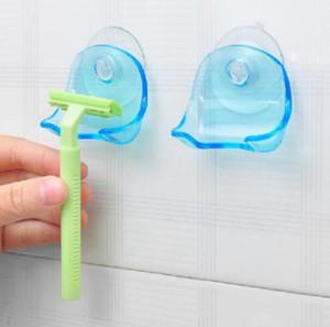 Plástico Navalha cremalheira Ventosa Casa de Banho Navalha Titular Shaver rack de armazenamento de Banho Organizador Para OOA7661 Duche