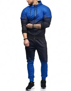 Men's Casual Sports Suit Hot Selling Men's Gradient Striped European And American-Style Set