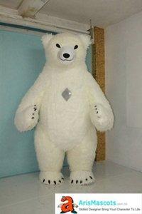 Costumi Polar Bear Carino gonfiabile della mascotte gonfiabile Polar Bear Adult Costume Mascota Déguisement Mascotte vacanze mascotte di carnevale