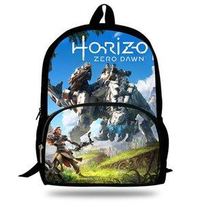 16-Zoll-Laptop-Rucksack für Kinder Spiel Horizon Zero-Dämmerung Druck Schulranzen Für teenages Junge Mädchen Täglich Bookbag