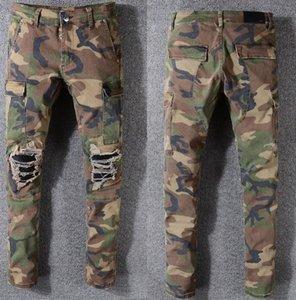 Amiri calças jeans de marca famosa dos homens de rua calças moda designer de qualidade superior calças de vaqueiro Boutique furo do homem Washed calças de vaqueiro