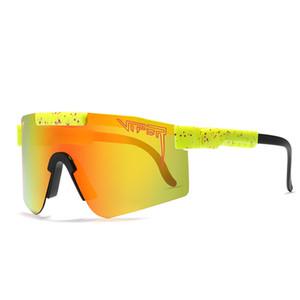 Pit Viper Esporte óculos polarizados para homens / mulheres TR90 quadro Windproof lente espelhada PV01-c2