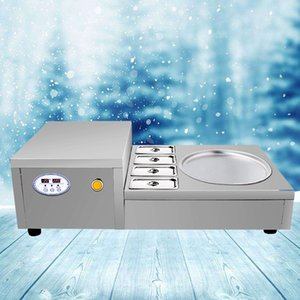Fried Ice Cream Machine Customs Data Hot sale products,stainless steel basin convenient to place raw fruits and other foods