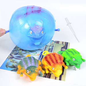 12pcs set Funny Inflatable Dinosaur Kids Blowing Toy Novelty Decompression Blowing Dinosaur Toy Children Christmas Gifts HHA1063
