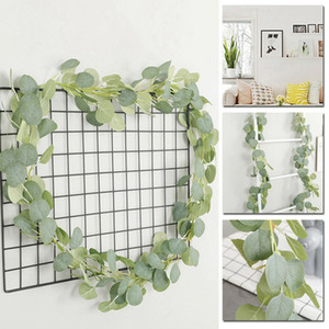 Artificial Eucalyptus Garland Faux Silk Vine Handmade Leaves Greenery 18M59Ft Home Decoration Gardening Decoration Pet Supplies Home Garden