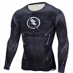 Мода Marvel Superhero Баки Баки 3D Men T Shirt Фитнес Crossfit Футболка с длинным рукавом Compression T Shirt Men S Одежда MMA