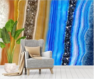 Custom wallpapers 3d murals wallpaper for living room Modern light luxury abstract marble wallpapers TV background wall