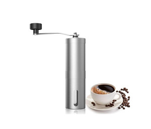 Mini moedor de café, Aessdcan Manual do moinho de café, mini portáteis Home Kitchen viagem de aço inoxidável Coffee Bean Grinder
