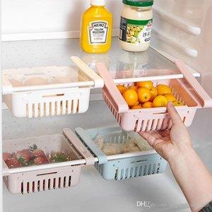 Ajustável Deslize Cozinha Frigorífico Congelador Saver Espaço Organizador armazenamento Rack Shelf Holde Drawer