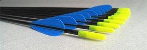 Archetto in fibra di tiro con l'arco e pratica Arco all'aperto Arco all'aperto Arrow Multicolor Training Straight Arrow Hunting 6mm Curve Combinazione IKIAP