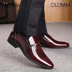 2019 Новые кожаные туфли Полые Наборы мужские Обувь Одежда Бизнес Мужчины Мокасины Zapatos De Hombre Повседневный природных