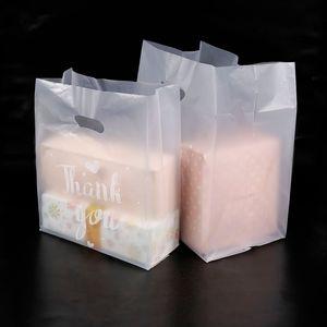 Teşekkür ederim Plastik Hediye Çantası Bez Depolama Alışveriş Çantası Saplı Parti Düğün Plastik Şeker Kek Sarma Çantaları