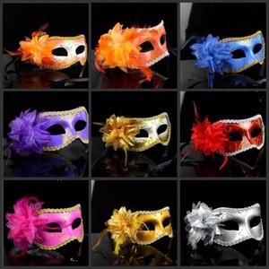 Donna Lace Lotus Flower Masquerade Partito Maschera Handmade veneziana di Halloween Masquerade Mask principessa Mardi Gras Costume sexy