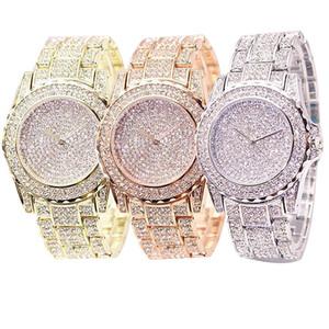 2020 de Moda de Nova Hot Venda de Mulheres todas brilhante strass redondo esportes quartzo pulseira de relógio de quartzo Student presente Ladies