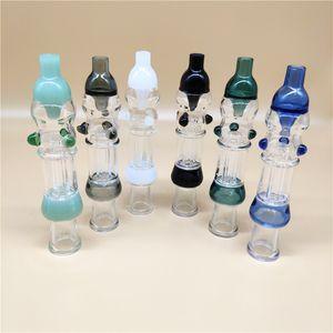 Beliebte Bunte OD 1INCH Mini Nectar Collectorx Set Geeignet für Titan Tip Titanium Nägel 14mm Inverted Nail Straw Glasbongs