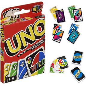 UNO Juegos Wild Card DOS tirón Edición Juego de mesa 2-10 jugadores Encuentro Game Party Diversión Entretenimiento Mejor vendedor