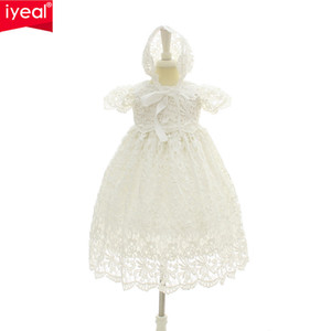 Iyeal 2018 Neue 1 Jahr Geburtstag Baby Mädchen Kleider Für Taufe Infant Princess Lace Taufkleid Neugeborenen Kleinkind Bebes Kleidung Y19061001
