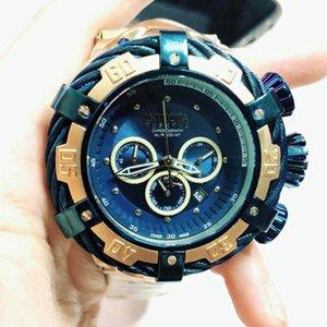 Швейцария cosc top Perfect quality INVICTA brand большой циферблат хронограф из нержавеющей стали Полный календарь многофункциональные Мужские кварцевые часы