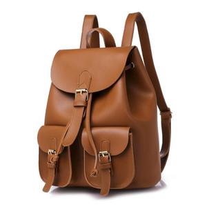 Womens PU Leather Designer Mochilas de alta qualidade Schoolbag Adolescente Casual Grande Travel Bag Bagpack Mochila Feminina Bookbag