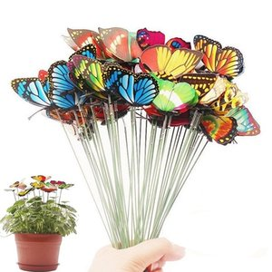 무리 나비의 정원 마당 화분 다채로운 기발한 나비 스테이크 Decoracion 야외 장식 화분 장식