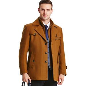 Новый зимний пальто мужчины длинная шерсть толстая ветровка шерстяное пальто Casaco Masculino Jaket мужская повседневная тренч Peacoat 5XL куртки