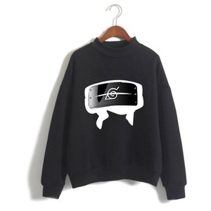 Japane Anime Naruto Oversized Hoodies Men Long Sleeve Fleece Turtleneck Sweatshirt Casual Pullover 90s Graphic Hoody Female Male