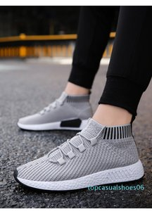 Men's and south Korean versions of fashion trend wear all-purpose black mesh socks and shoes 06t